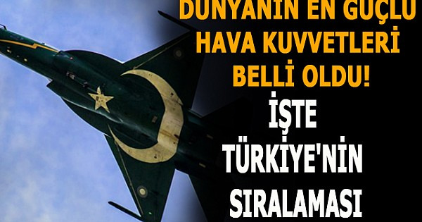 Dünyanın en güçlü hava kuvvetleri belli oldu! İşte Türkiye'nin sıralaması