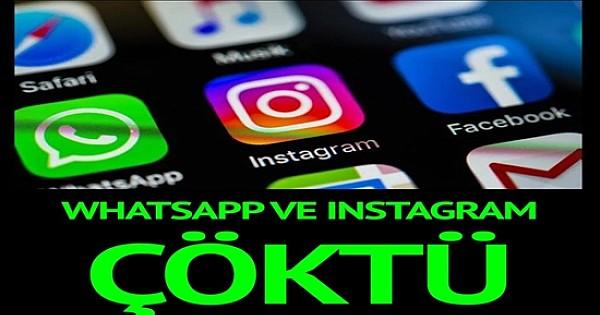 WhatsApp ve Instagram çöktü! İlk açıklama geldi