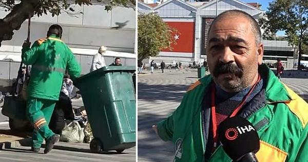 Çöp toplarken içinde 650 bin TL olan çanta buldu!