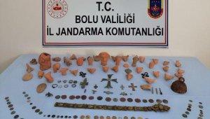 Bolu'da 173 sikke ve tarihi eserler ele geçirildi, 2 kişi gözaltına alındı