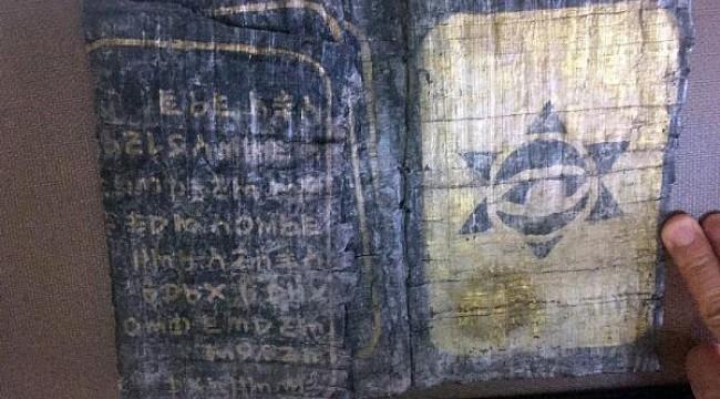 Düzce'de, üzerinde Davut Yıldızı olan kitap ele geçirildi