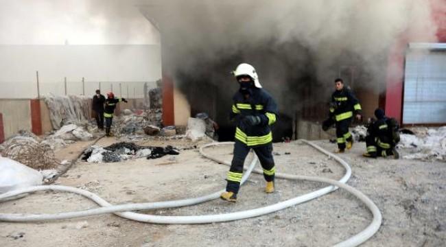 Gaziantep'te elyaf atölyesinde yangın