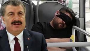Bakan Koca, maskeyi gözüne takan vatandaşı telefonla aradı