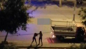 Bulvarın ortasında kız arkadaşını darbeden şüpheli, serbest bırakıldı