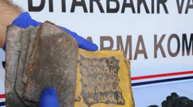 Diyarbakır'da İbranice yazılmış kitap ele geçirildi