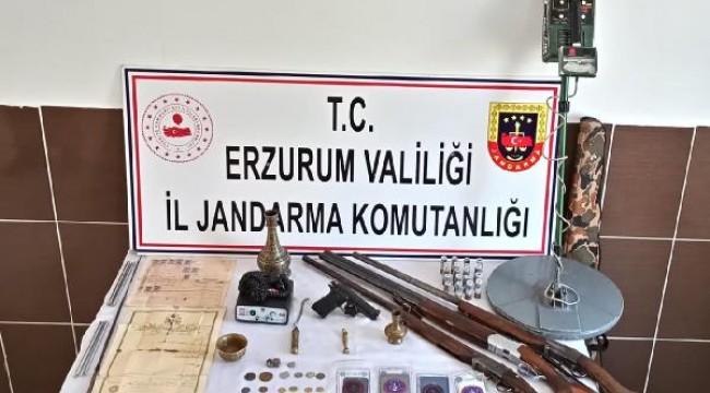 Erzurum'da kaçak kazıya 1 tutuklama