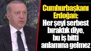 SON DAKİKA: Erdoğan: Her şeyi serbest bıraktık diye, bu iş bitti anlamına gelmez