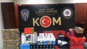 Adana'da 100 bin lira değerinde kaçak ürün ele geçirildi