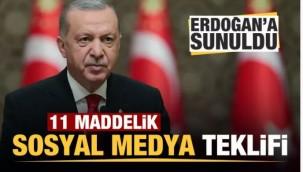 Başkan Erdoğan'a sunuldu! İşte 11 maddelik 'sosyal medya' teklifi!