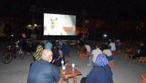 Elazığ'da açık havada sinema etkinliği