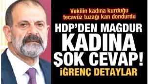 İğrenç detaylar: Vekilden kan donduran tecavüz tuzağı! HDP'den mağdur kadına şok cevap