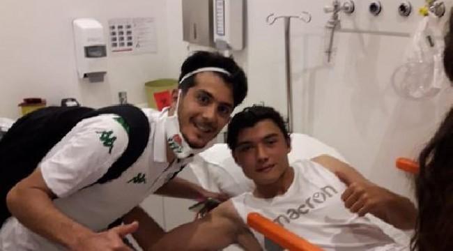 İkili mücadele sonrasında ayağı kırılan Kırdaroğlu'na Bingöl'den ziyaret
