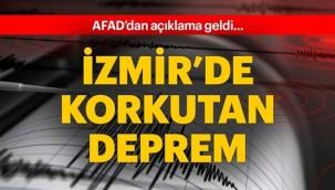 Son dakika haberi... İzmir'de korkutan deprem
