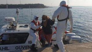 Yunanistan askerlerinin geri ittiği göçmen kaçaklar kurtarıldı