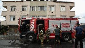 Arnavutköy'de terasta mangal yangın çıkardı iddiası