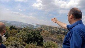 Bulgaristan sınırındaki orman yangını sürüyor
