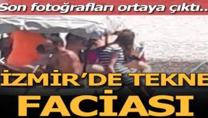 Foça'da 10 kişinin bulunduğu tekne battı
