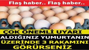 Yumurta alırken dikkat
