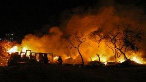 Çalılık alandaki yangın korkuttu