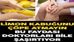 Dinmeyen eklem ağrılarınızı limon kabuğuyla tedavi edebileceğinizi biliyor muydunuz?
