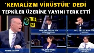 """Kemalizm hakkında """"virüs"""" diyen Selman Öğüt, yayını terk etti"""