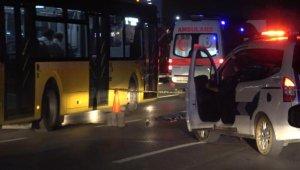 Arnavutköy'de otomobilin çarptığı genç kız kamyonun altında kalarak ağır yaralandı