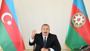 Azerbaycan Cumhurbaşkanı Aliyev: 20 köy ve 1 kasaba işgalden kurtarıldı