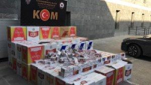 Kahramanmaraş'ta 350 bin TL'lik sigara makaronu ele geçirildi