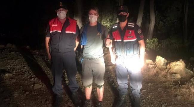 Likya Yolu'nda kaybolan Ukraynalı turisti jandarma buldu