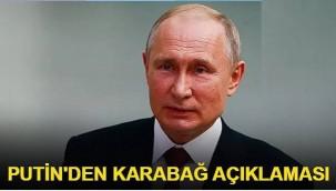 Putin'den Karabağ ve Türkiye açıklaması!