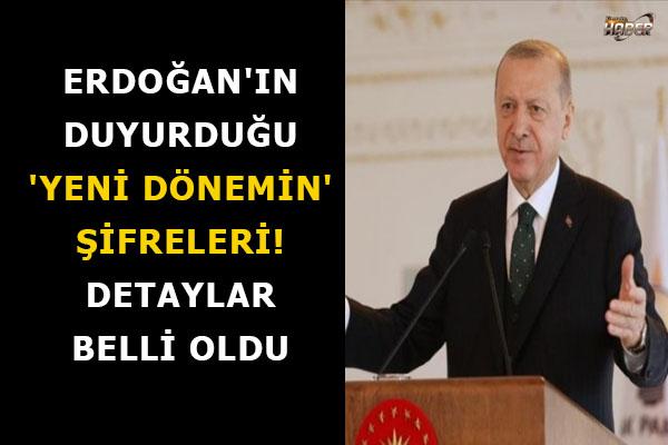 Erdoğan'ın duyurduğu 'yeni dönemin' şifreleri! Detaylar belli oldu