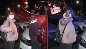 İzmir'de gergin anlar! 'Polismiş, ne bunlar ya?'