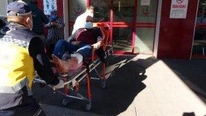 Pazara giderken, silahlı saldırıda yaralandı