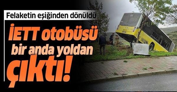 Son dakika... İstanbul'da İETT otobüsü şarampole uçtu