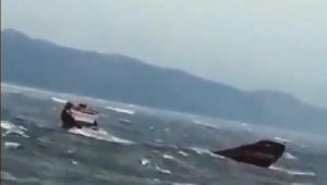 Bartın'da 12personeli bulunan kuru yük gemisi battı