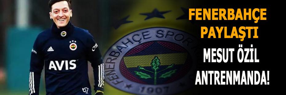 Fenerbahçe paylaştı.Mesut Özil antrenmanda!
