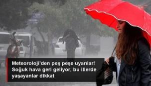 Meteoroloji'den peş peşe uyarılar! 6 kentimizde kuvvetli yağış, 4 bölgede de fırtına bekleniyor