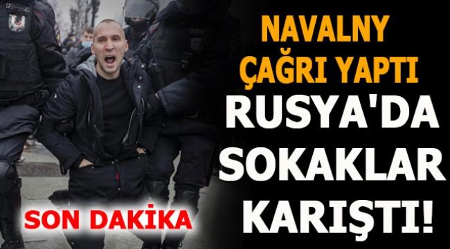 Navalny çağrı yaptı, Rusya'da sokaklar karıştı!