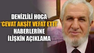 Prof. Dr. Cevat Akşit'in vefat ettiği yönündeki paylaşımlar üzerine açıklama geldi.