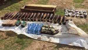 Tel Abyad'da terör örgütü PKKYPG'nin patlayıcıları ele geçti