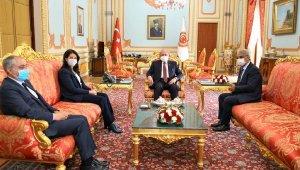HDP'li Buldan ve Sancar'dan TBMM Başkanı Şentop'a ziyaret