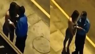 Sokağa çıkma yasağını ihlal eden kadını öpen polise ceza!