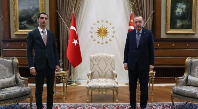 Cumhurbaşkanı Erdoğan, Muhsin Yazıcıoğlu'nun oğlu ile görüştü