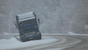 Domaniç'te etkili olan 'kar' ulaşımı aksattı