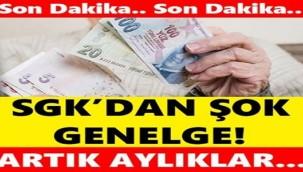 SGK'DAN ÇOK ÖNEMLİ MAAŞ GENELGESİ