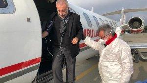Azerbaycan'da koronavirüse yakalanan iş insanı, ambulans uçakla Türkiye'ye getirildi
