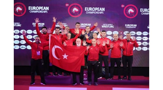Grekoromen güreş milli takımı Avrupa ikincisi