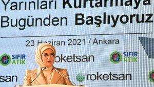 Emine Erdoğan: 24,2 milyon ton geri kazanılabilir atık işlenerek ekonomiye kazandırıldı