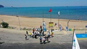İnkumu Plajı'nda 3 bölgeye mavi bayrak