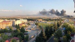 Kahramanmaraş'ta tekstil fabrikasında endişelendiren yangın
